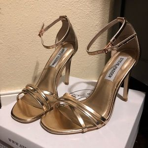 New Rose Gold heels Steve Madden